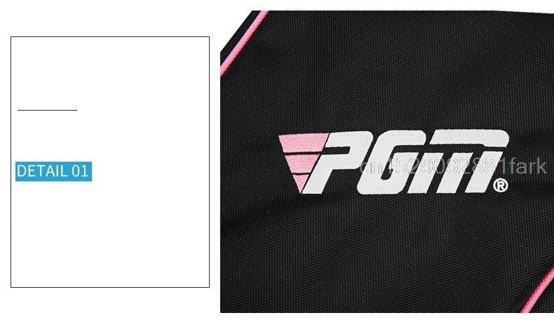 H24006f1caee040ae8cc3993d0b37645fT New Pgm Mini Golf Gun Bag Foldable Design Portable Gun Bag Hold 8-9 Clubs High Capacity Shoulder Club Golf Bags For Men Women