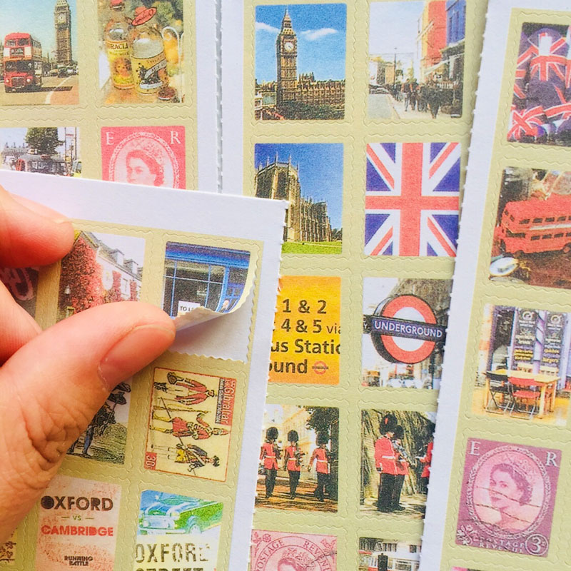 4 Sheets /Pack Stylish Travelling London Stickers Notebook Album DIY Decoration