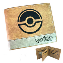 Short Leather Pokémon Cartoon pikachu Poké Ball Wallet Card Holder Coin Pocket Purse for Mens Boys Women Christmas New Gifts(China)