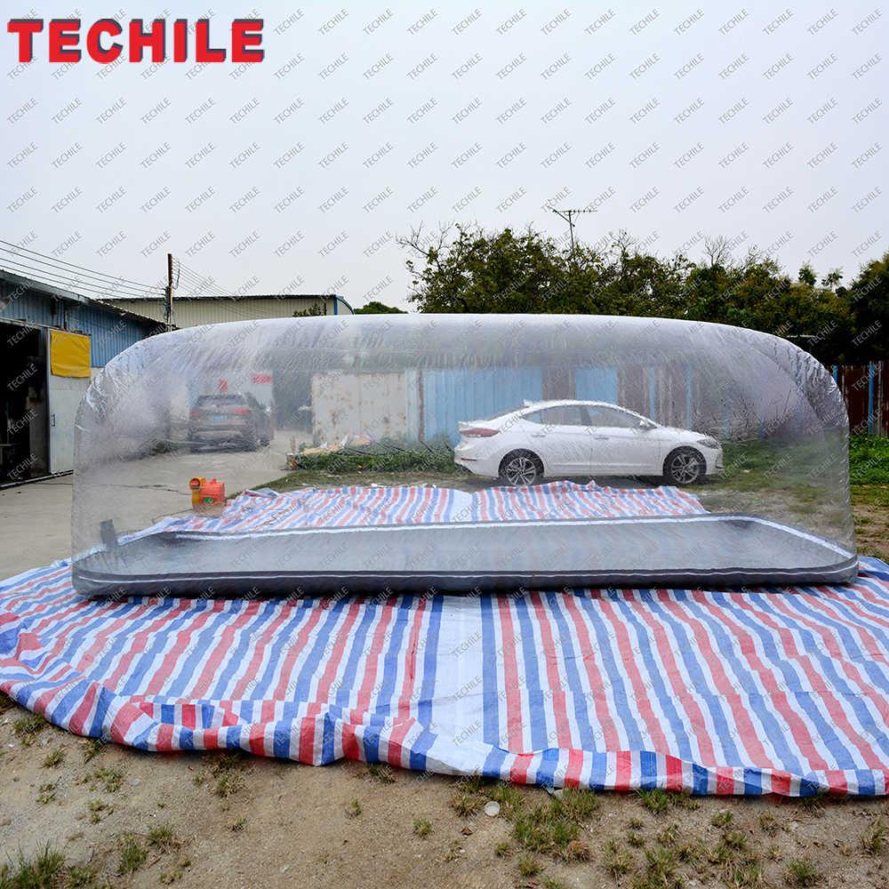무료 배송 먼지 증거 풍선 야외 자동차 스토리지 텐트 버블 타입 자동차 커버