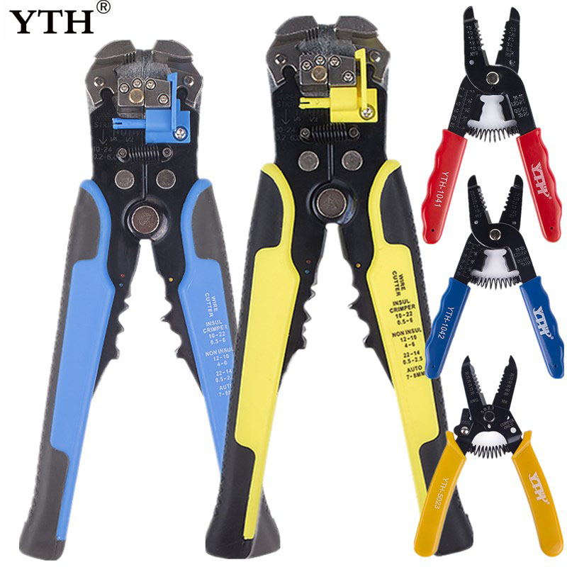 YTH Wire Stripper Stripping Cable Insulation Removal Tool For Electrician Side Cutter Cutting Pliers Clamps Nippers Hand Tools