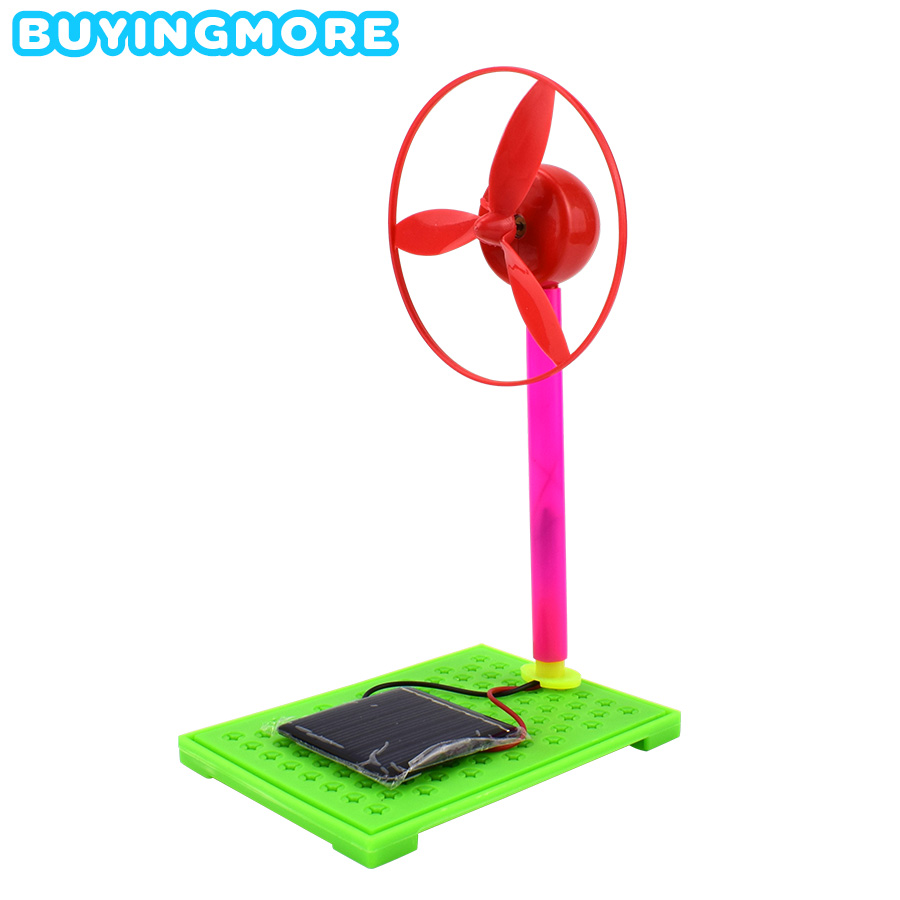 Solar Fan Model Kits Educational Science Toys For Children DIY Kit Learning Materials Light Energy Conversion Experiment Kid Toy