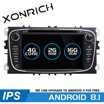 2 din Android 8.1 Car Multimedia Player For Ford Focus 2 mk2 Transit Connect S-MAX C-MAX Kuga Mondeo 4 Car Radio GPS Navigation