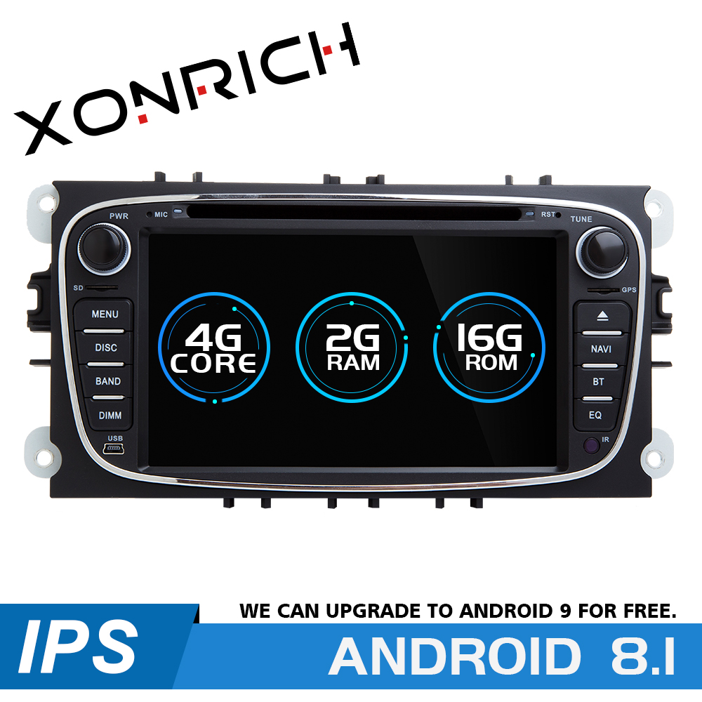 2 din Android 8.1 Car Multimedia Player For <font><b>Ford</b></font> Focus 2 mk2 <font><b>Transit</b></font> Connect S-MAX C-MAX Kuga Mondeo 4 Car Radio <font><b>GPS</b></font> Navigation image