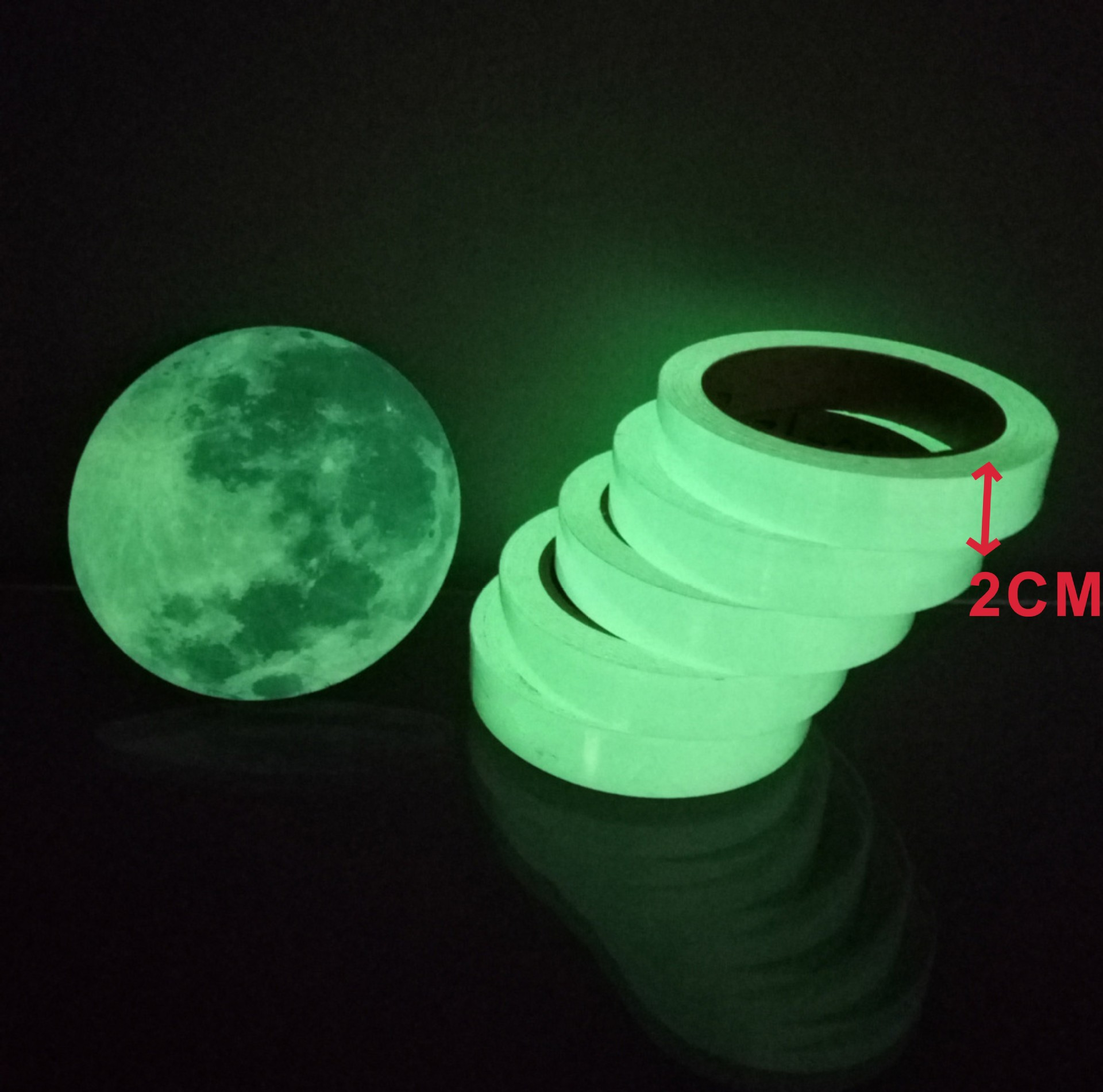 Luminous Tape Self Adhesive PET Warning Tape Night Vision Glow In Dark Wall Sticker Fluorescent Emergency Stickers Glow In Dark