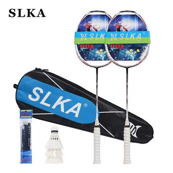 SLKA 1 para Ultralight N90III nawleczone paletka do badmintona profesjonalne 7U 67g twardego wału w całości z włókna węglowego rakieta do badmintona zestaw 30 kg tanie i dobre opinie Węgla W1 (≤80g) 25-27 kg (medium wysokiej funta amatorskich starszy) N90 III Badminton Racket Set HARD Obraźliwe typu (ciężkie końcówki i trudno pręt)