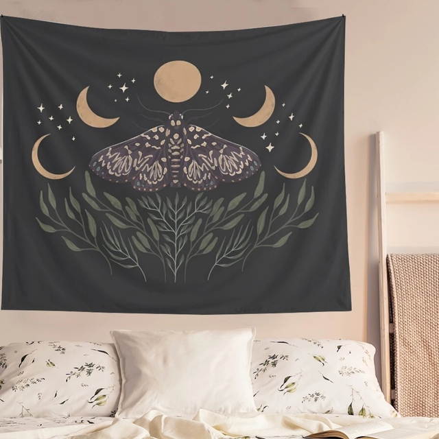 Moon Phase Printed Tapestry 2