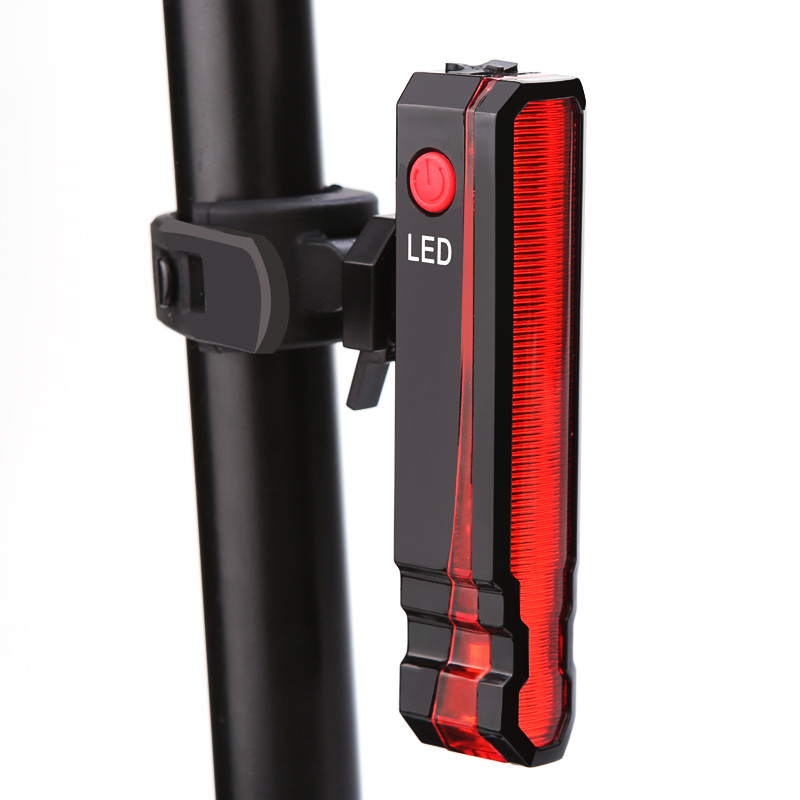 USB Rechargeable Bicycle Light Folding Laser Bike Light Front Rear Safety Warning Bike Tail Rear Light Waterproof Cycling Lamp