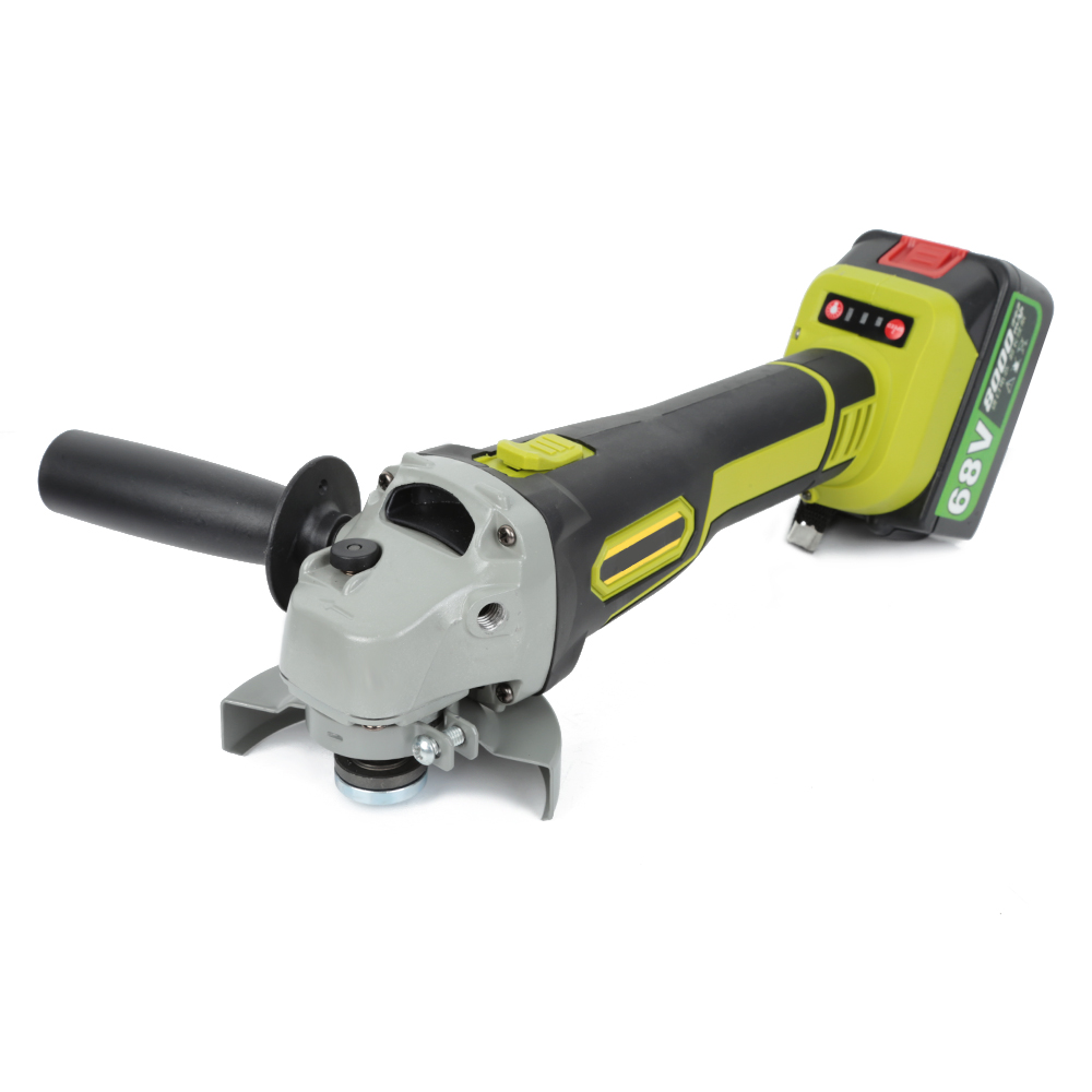 Heißer 155mm Winkel Grinder 10000rpm Schleifen Maschine Cut Holz Metall Stein 8000mAh Li-Ion Batterie 2 Geschwindigkeit 68V Cordless Winkel Grinder