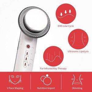 Image 2 - 3 in 1 ultrasonik vücut zayıflama makinesi yüz kaldırma kilo kaybı ultrason kızılötesi cilt terapi Fat Burner güzellik cihazı