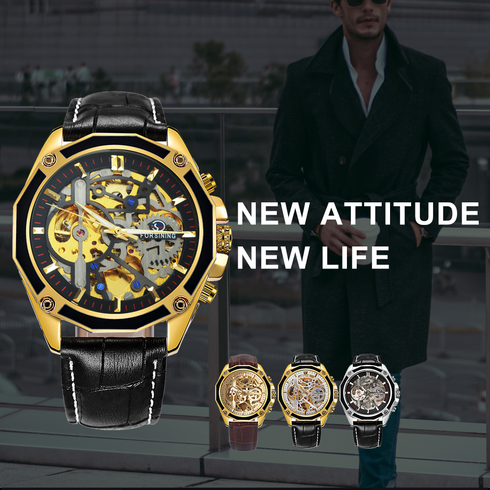 H240161afe6a24c02817ee02a16343a729 FORSINING Golden Top Brand Luxury Auto Mechanical Watch Men Stainless Steel Strap Skeleton Dial Fashion Business Wristwatches