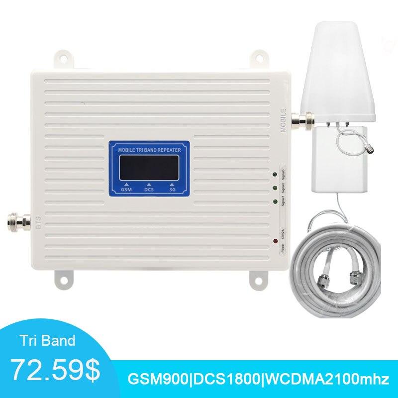 4G sinyal güçlendirici Tri bant amplifikatör 900 1800 2100 GSM DCS WCDMA 2G 3G 4G LTE sinyal güçlendirici cep telefonu hücresel tekrarlayıcı/