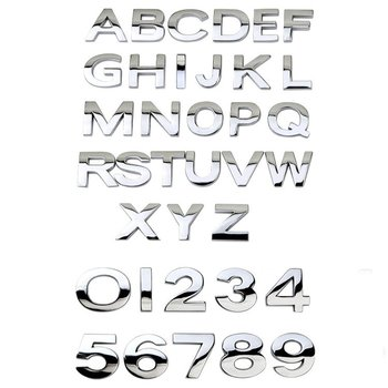 Car 3D letter English letters Car logo DIY alphanumeric metal body stickers word mark tail silver For BMW For For image