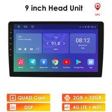 9/10.1 polegada 2 din android 10 gps rádio automático multimídia dvd player bluetooth wifi espelho ligação obd2 dab + universal carro fm