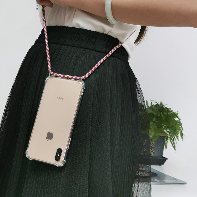 Hot Protective Phone Case Cover With Necklace Crossbody Rope For IPhone X 7 8 6 6S Plus 5 5S SE XR XS Max Shoulder Strap Cover