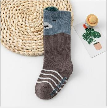 0-3Year 1 Pair Autumn and winter boy girl tube socks new loose mouth three-dimensional infant children's baby cartoon socks - G, 1-3 year