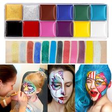 12 Colors Non Toxic Face Body Paint Water Soluble Oil Painting Tattoo Halloween 4X7E