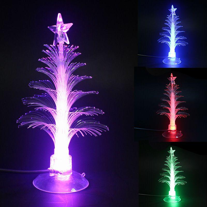 Arbre de noël LED veilleuses décoration de la maison couleur changeante veilleuses à fibres optiques - 6