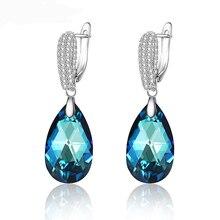 Xuping 11,11, серьги в форме капли воды, кристаллы от Swarovski, элегантные ювелирные изделия для девушек, женские вечерние серьги, изысканный подарок, M62-20491