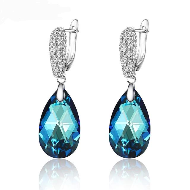 11,11 Xuping серьги капли с кристаллами Сваровски, элегантные ювелирные изделия для девушек и женщин, изысканный подарок