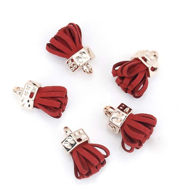 10PCs Fashion Flower Suede Tassel Pendant Charm For Jewelry Making Keychain Ornaments Tassel DIY Garment Bags Accessories Decor