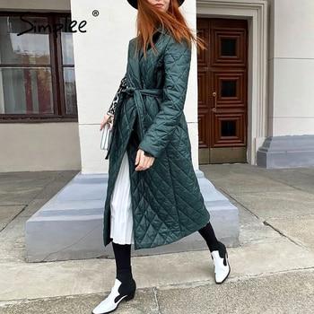 Simplee Long Straight Winter Coat 3