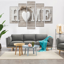5Pcs HOME Canvas Print Painting Unframed Wall Art Painting Sofa TV Background Living Room Home Decoration minimalist fresh unframed paintings little girls back canvas posters wall painting art print for home bedroom decoration
