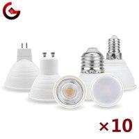 10 unids/lote MR16 GU10 E27 E14 Lampada LED Bombilla 6W 220V Bombillas de foco para lámpara LED Lampara LED del punto de luz de iluminación de 24/120 grados