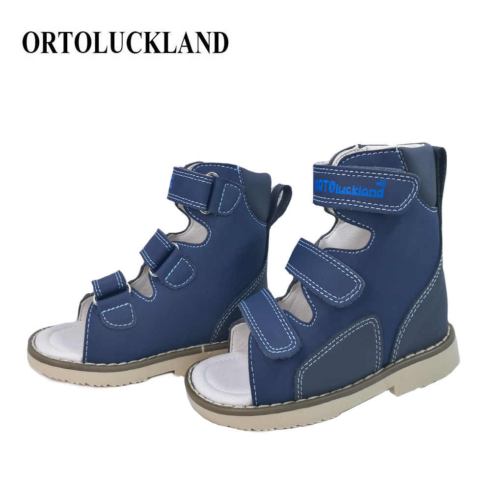 Kleine Kinder Korrektur Arch Unterstützung Orthopädische Echtem Leder Sandalen Schöne Sommer Open-toe Party Schuhe
