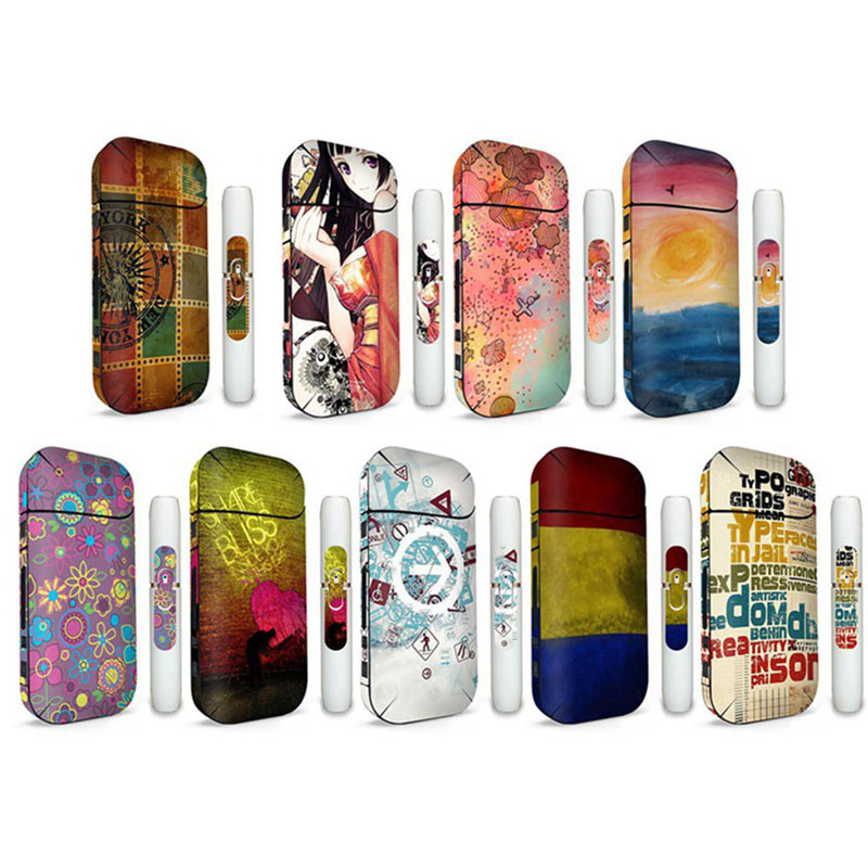 1Pc Printing PVC Material Skin For <font><b>IQOS</b></font> 2.4 Plus <font><b>Sticker</b></font> Case Sleeve Antidust Decorative Protective Cover Skin <font><b>Sticker</b></font> image