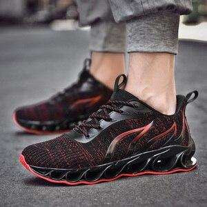 Image 3 - 2020 חדש גברים סניקרס מקרית אופנה גברים להב סניקרס Zapatos דה Hombre גברים רשת לנשימה נעליים חיצוני נעלי ספורט גברים