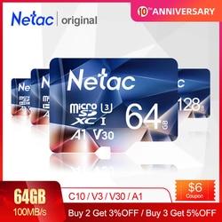 Tarjeta Micro SD Netac P500 128GB tarjeta De Memoria SD 64GB 256GB 512GB C10/U3/V30/A1 tarjeta TF Cartao De Memoria para cámara De teléfono