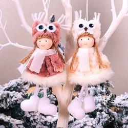 New Year 2020 Cute Santa Claus/Snowman/Angel Christmas Dolls Noel Christmas Tree Decoration for Home Xmas Navidad 2019 Kids Gift 6