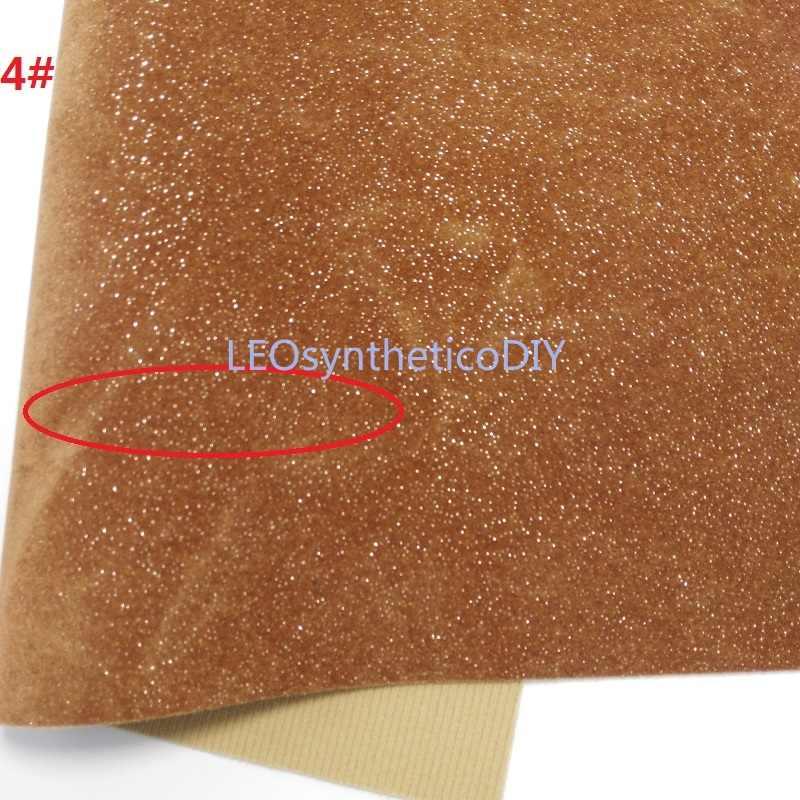 1PC 21X29CM Glitter Velvet Faux Tessuto In Pelle, tessuto di Cuoio sintetico Cuoio Lenzuola Per Fare Archi LEOsyntheticoDIY T268
