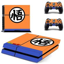 Dragon Ball PS4 Skin Son Goku PS 4 Sticker Play station 4 Stickers Pegatinas Adesivo For PlayStation 4 console and 2 controller