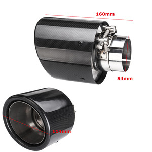 Image 5 - Universal 2inch 2.5inch 3inch  Glossy Black Carbon Fiber Car Exhaust Rear Tip Pipe Muffler Multiple Sizes