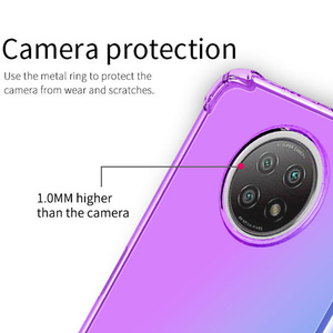 Image 4 - Gradient Case for Xiaomi Redmi Note 9 Pro Max 9S 9T 5G Cases Note9T Cover Women Note9 T Note9S Covers Transparent Luxury Bumper