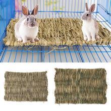 Кролик трава жевательный коврик для небольшого животного хомяка морская свинка кровать клетка дом коврик
