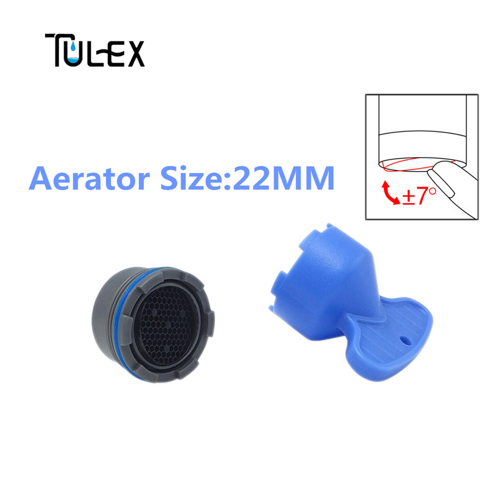 TULEX Faucet Aerator Spout Bubbler Crane Filter Hide-in Core 22MM Replacement Part With DIY Install Spanner For Kitchen Faucet