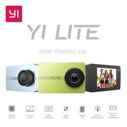YI Lite экшн Камера 16MP настоящий 4K спортивные Камера со встроенным WI-FI 2 дюймов ЖК-дисплей Экран 150 градусов Широкий формат линзы черного цвета