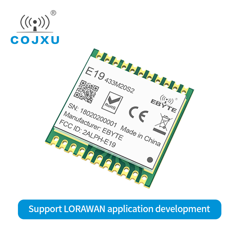 SX1278 LoRawan LoRa 433MHz Module 20dMm E19-433M20S2 SMD Wireless Transmitting Wireless SPI Interface Long Range Stamp Hole image