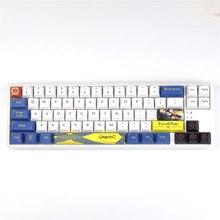 Anime Tastenkappen PBT Sublimation Keycap Kirsche Profil Kompatibel mit GH60GK64/96/104/108 Mechanische Tastatur Schlüssel Kappen