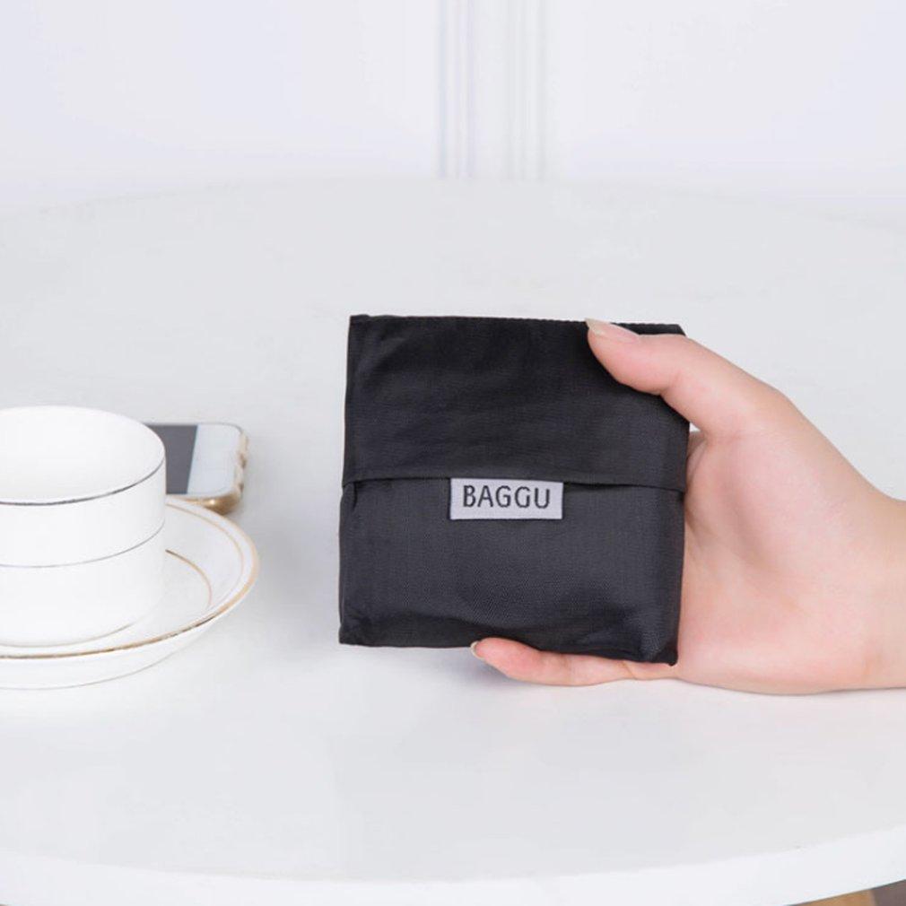 Large Foldable Shopping Tote Bag Reusable Nylon Bag Fashion Nylon Tote Bags Women Men Folding Bag for Travel Grocery