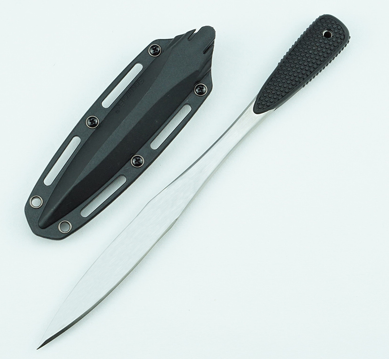 Tools : new 53JD Fixed Knife 420 Blade Silicone Handle Outdoor Hunting Camping Survival Training Utility Tools