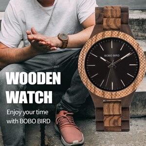 Image 1 - BOBO BIRD ساعة خشب رجال بيان كول ساتي كوارتز رجالي ساعات مع يد مضيئة في صندوق هدايا خشبي دروبشيبينغ شعار مخصص