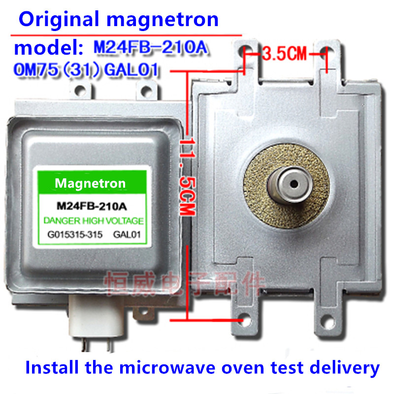 Magnetron M24FB-210A/OM75S(31)GAL01 Microwave oven accessories up and down 4 holes installation M24FB-210A/OM75S(31)GAL01