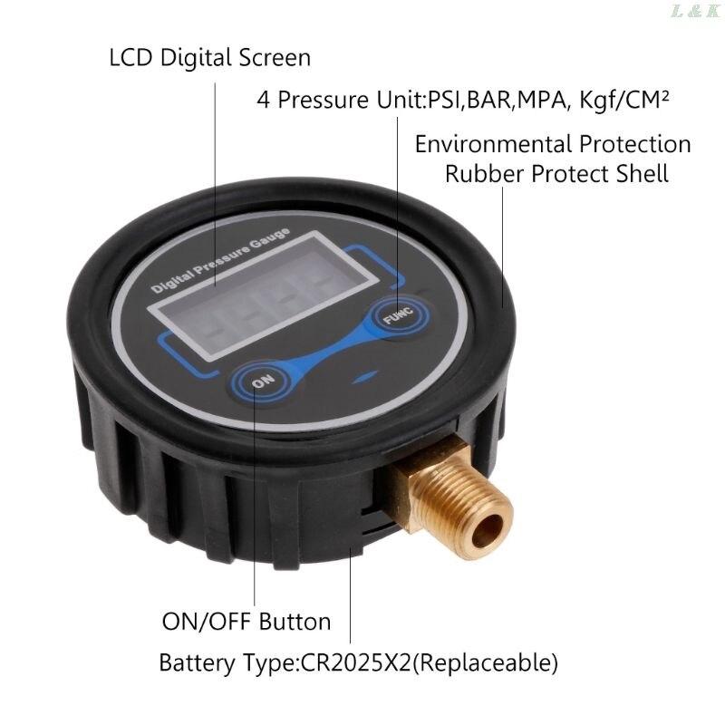 0-200PSI ЖК цифровой датчик давления в шинах для автомобиля, мотоцикла, шин, воздуха, PSI метр 1/8