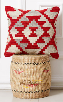 pillow 30 50 Kilim  Handmade Aubussion Modern Art Wool Fancy Hand Crafted Fine Ofa Chair Decor