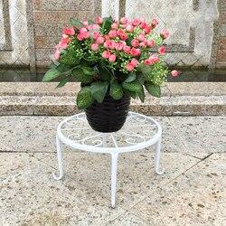 European Style Iron Art Flower Rack A Living Room Monolayer Flowerpot Frame Landing Type Bonsai Frame Small Stool