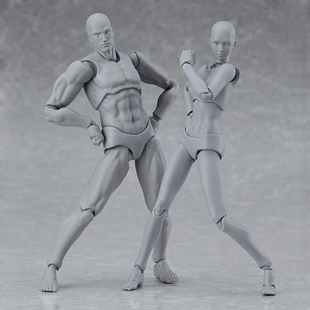 13cm Movable Drawing Figures For Artists Action Figure Model Human Mannequin Man Woman Child Home Decoration Draw figures Set 5
